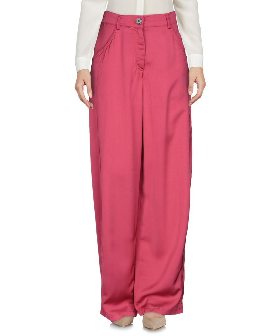 Image for Emporio Armani Fuchsia Wide Leg Trousers
