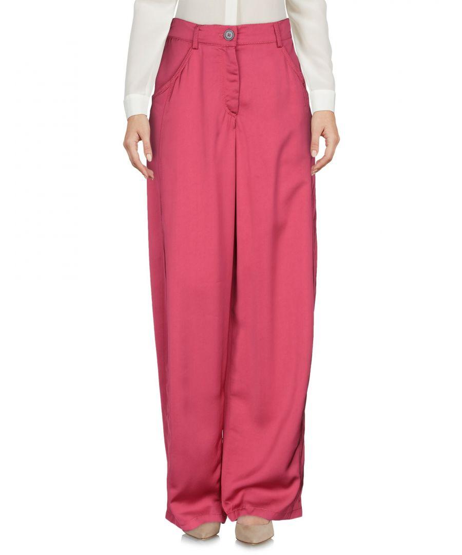 Image for Emporio Armani Fuchsia Wide Leg Trousers