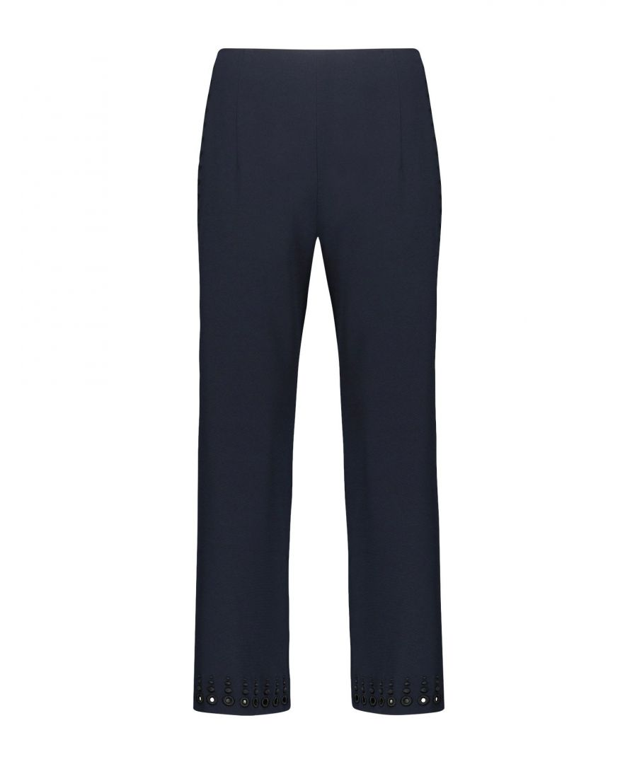 Image for TROUSERS Derek Lam 10 Crosby Dark blue Woman Triacetate