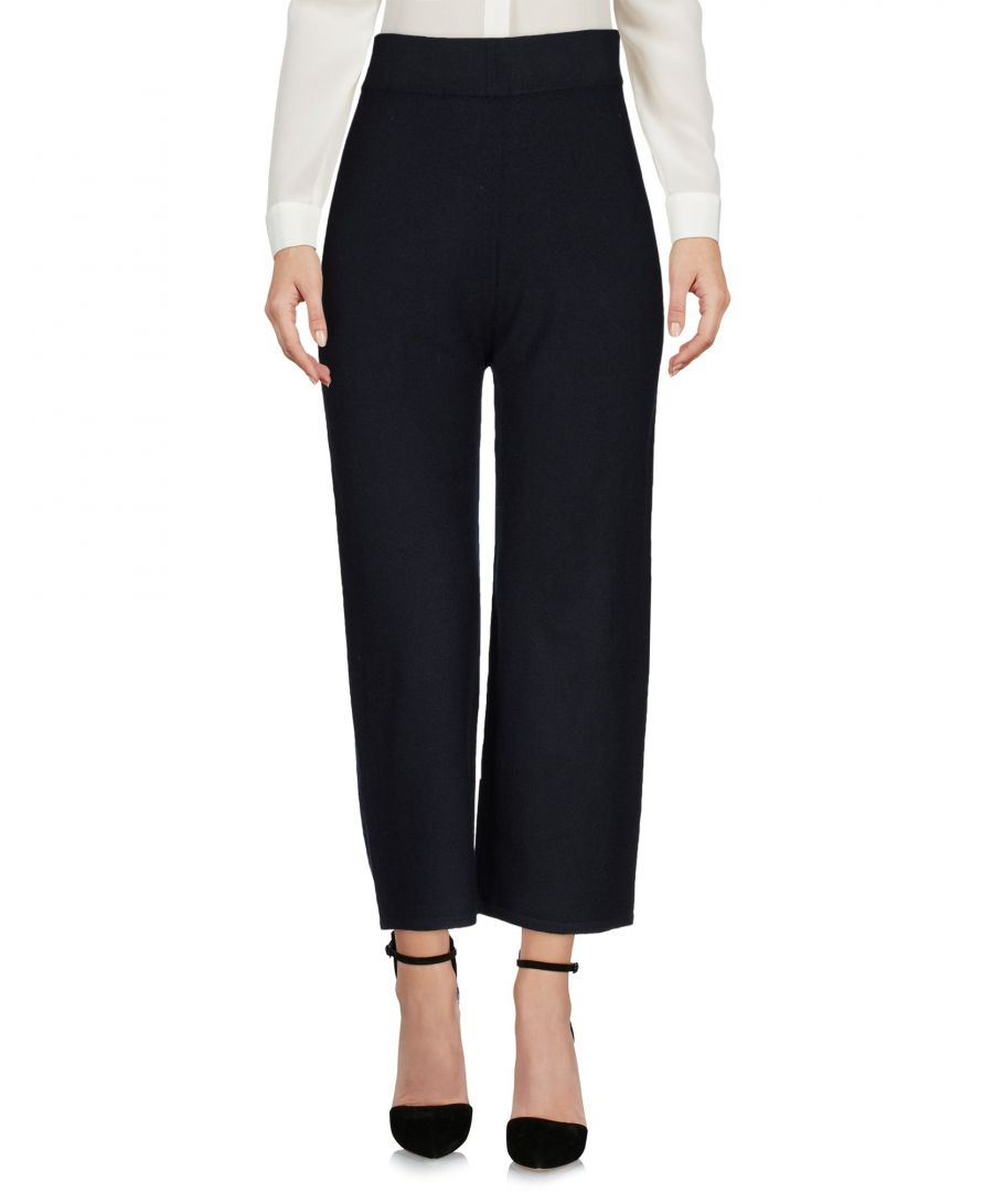 Image for Alpha Studio Dark Blue Merino Wool High Waisted Trousers