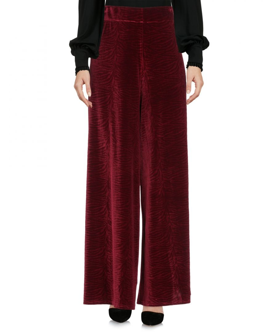 Image for Traffic People Maroon Chenille Wide Leg Trousers