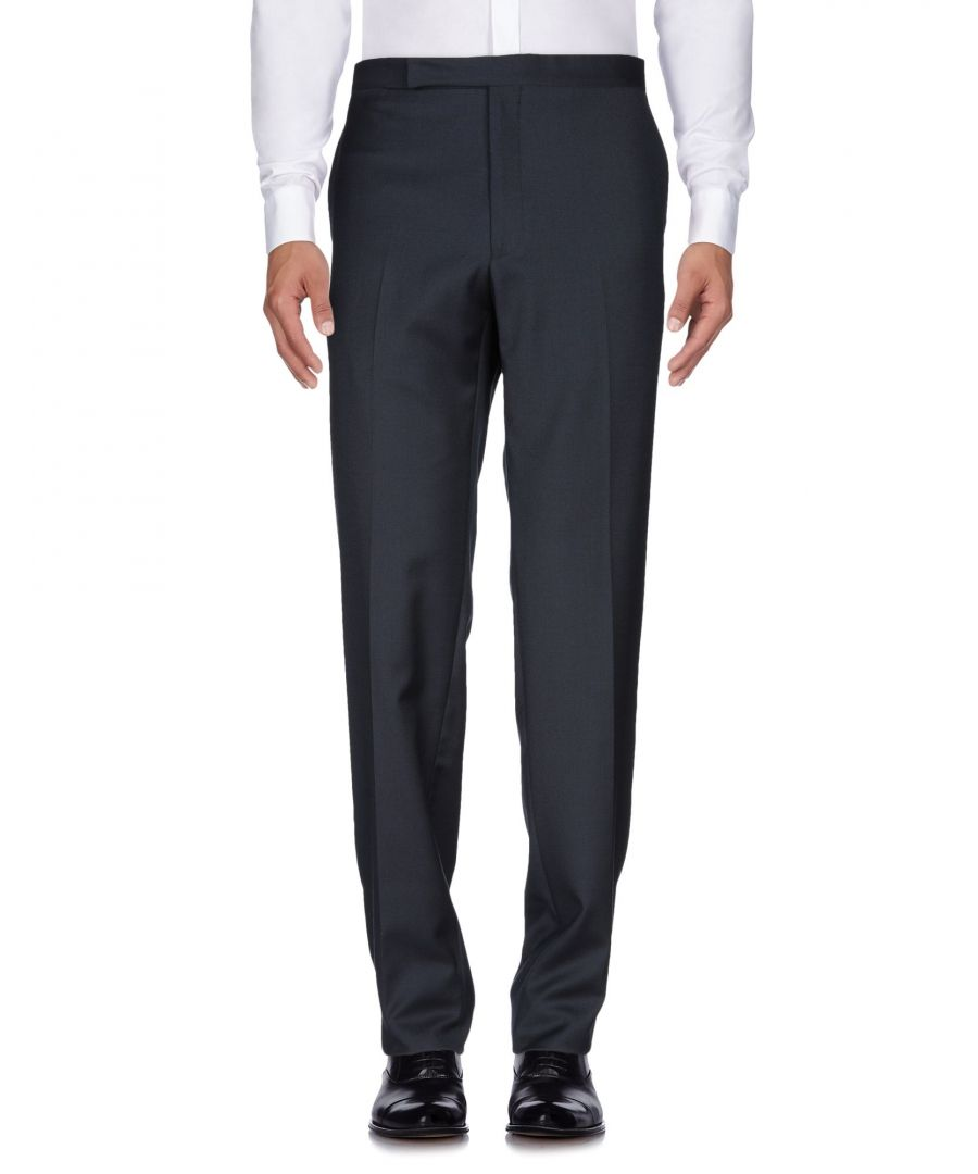 Image for Polo Ralph Lauren Blue Wool Tapered Leg Tailored Trousers