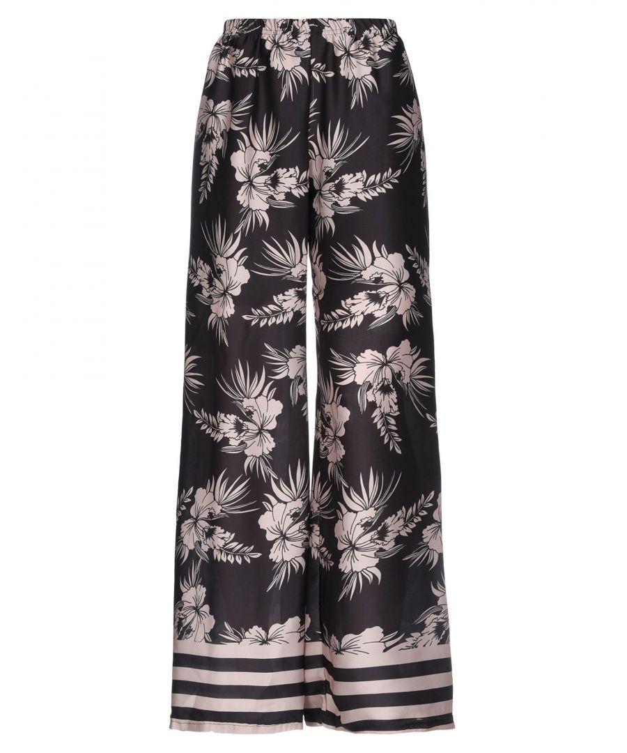Image for Giorgia  & Johns Black Print Wide Leg Trousers
