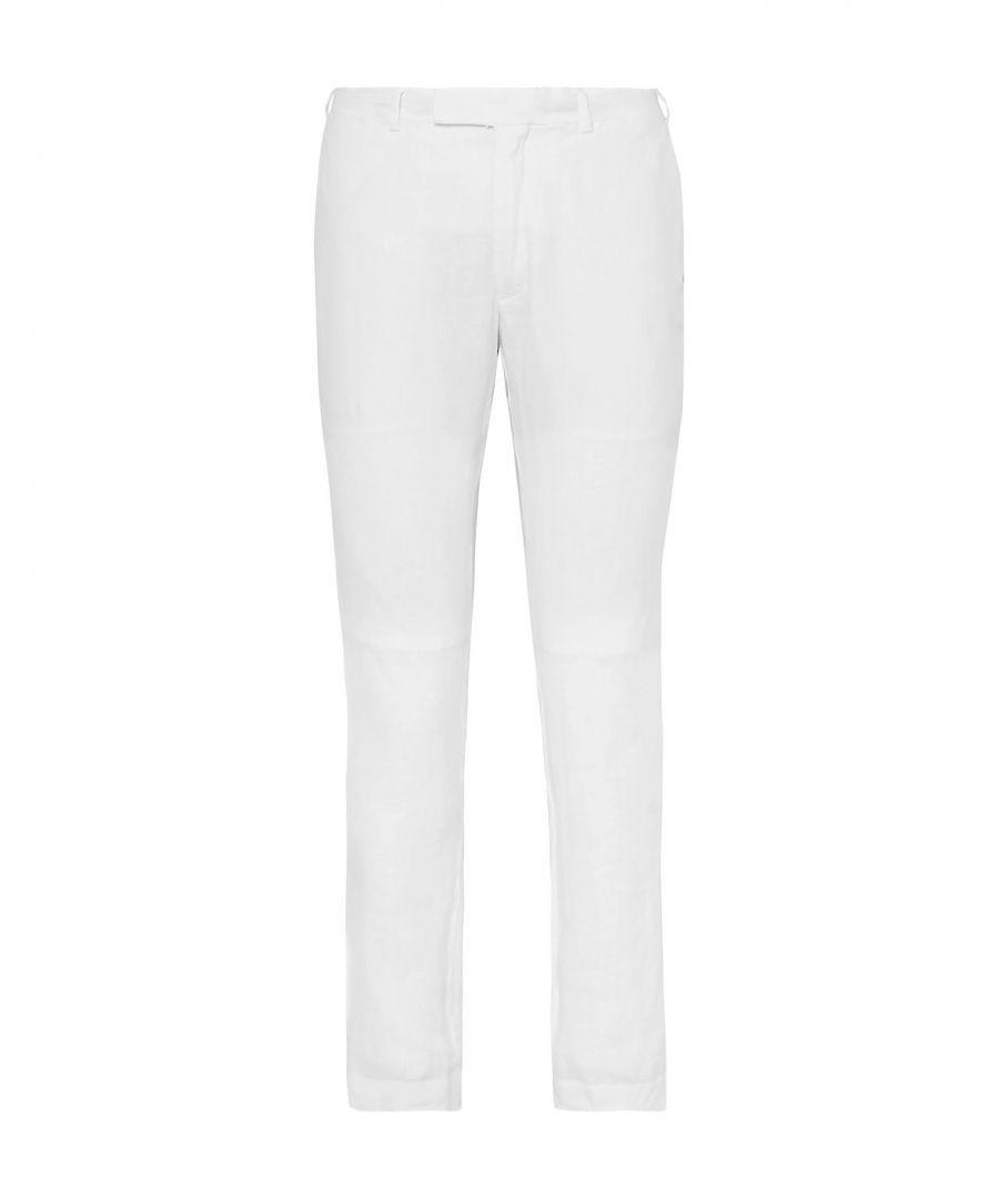 Image for Polo Ralph Lauren White Linen Straight Leg Chino Trousers