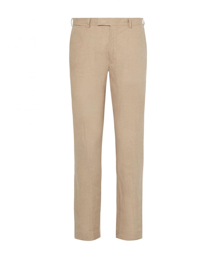 Image for Polo Ralph Lauren Beige Linen Chino Trousers