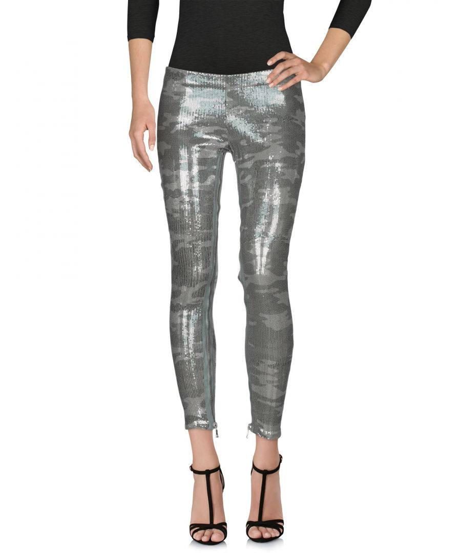 Image for Balmain Green Cotton Sequinned Trousers