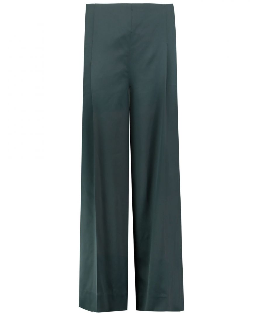 Image for Chalayan Dark Green Wide Leg Trousers