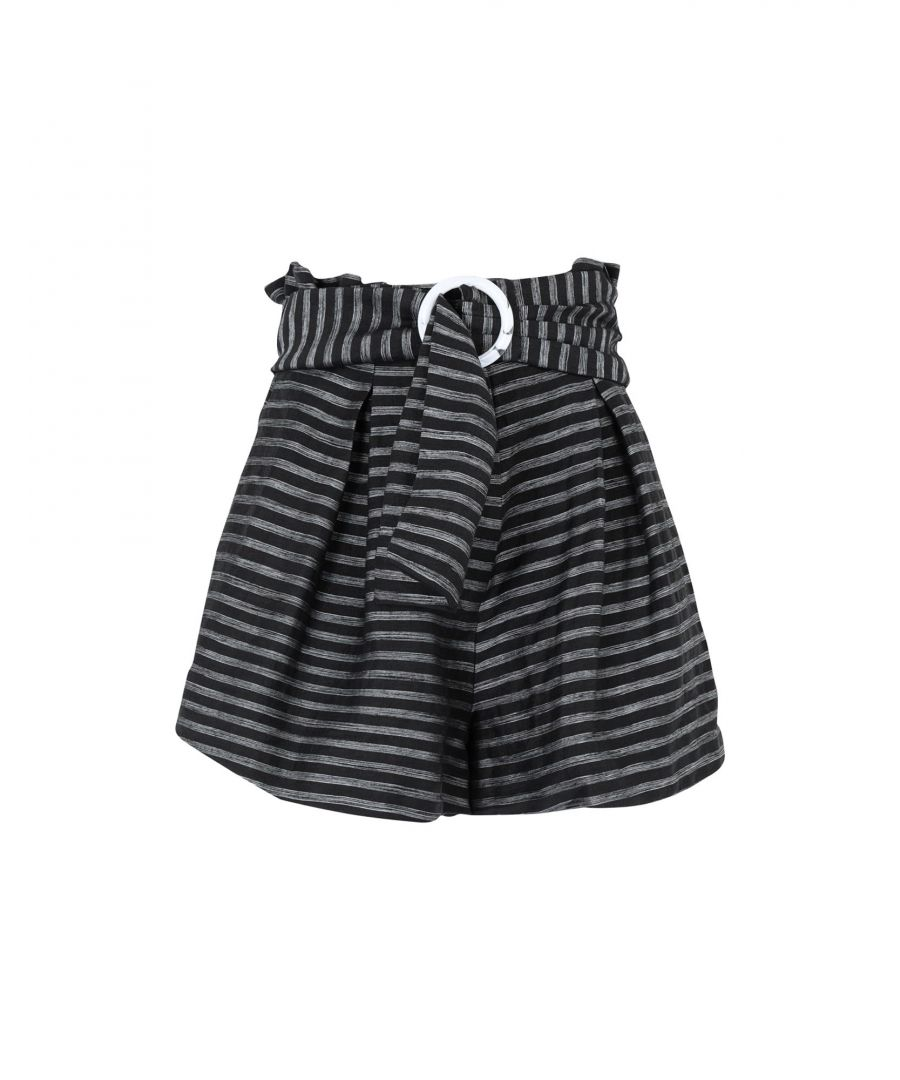 Image for C/Meo Collective Black Linen Shorts