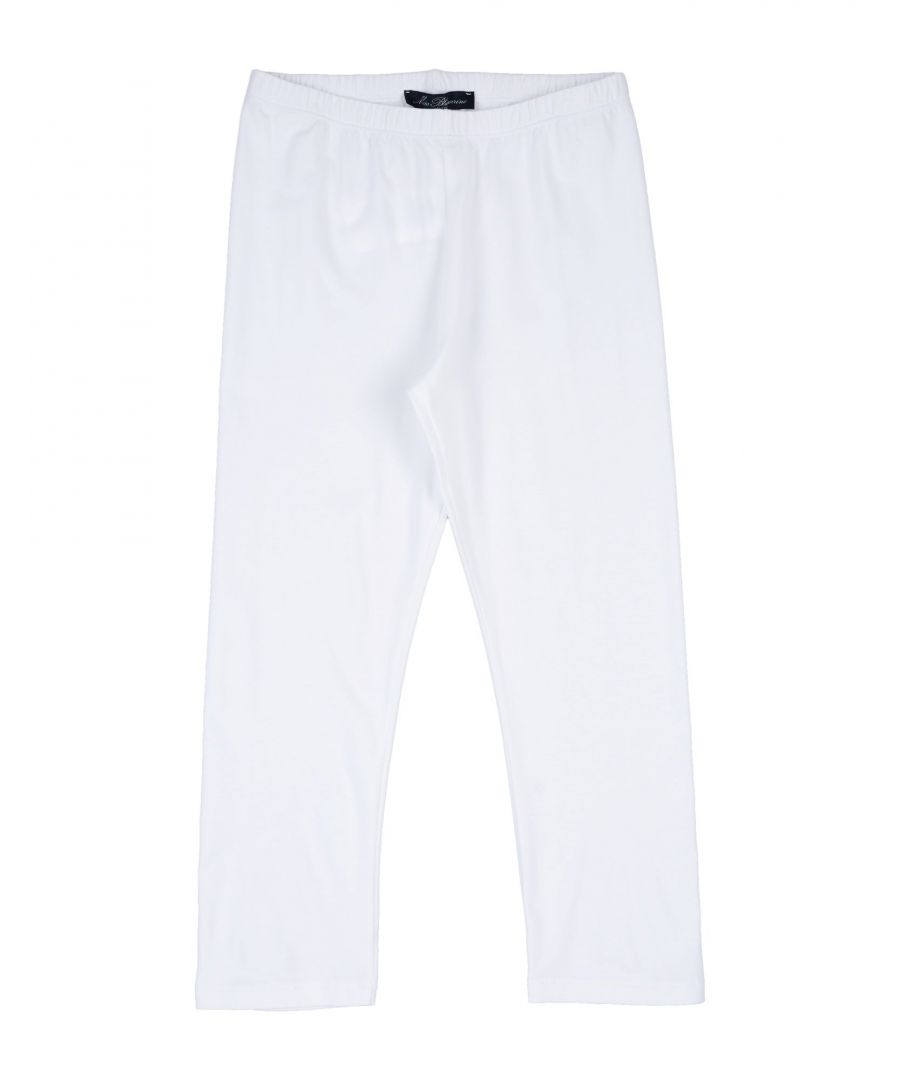 Image for Miss Blumarine White Girl Cotton Trousers