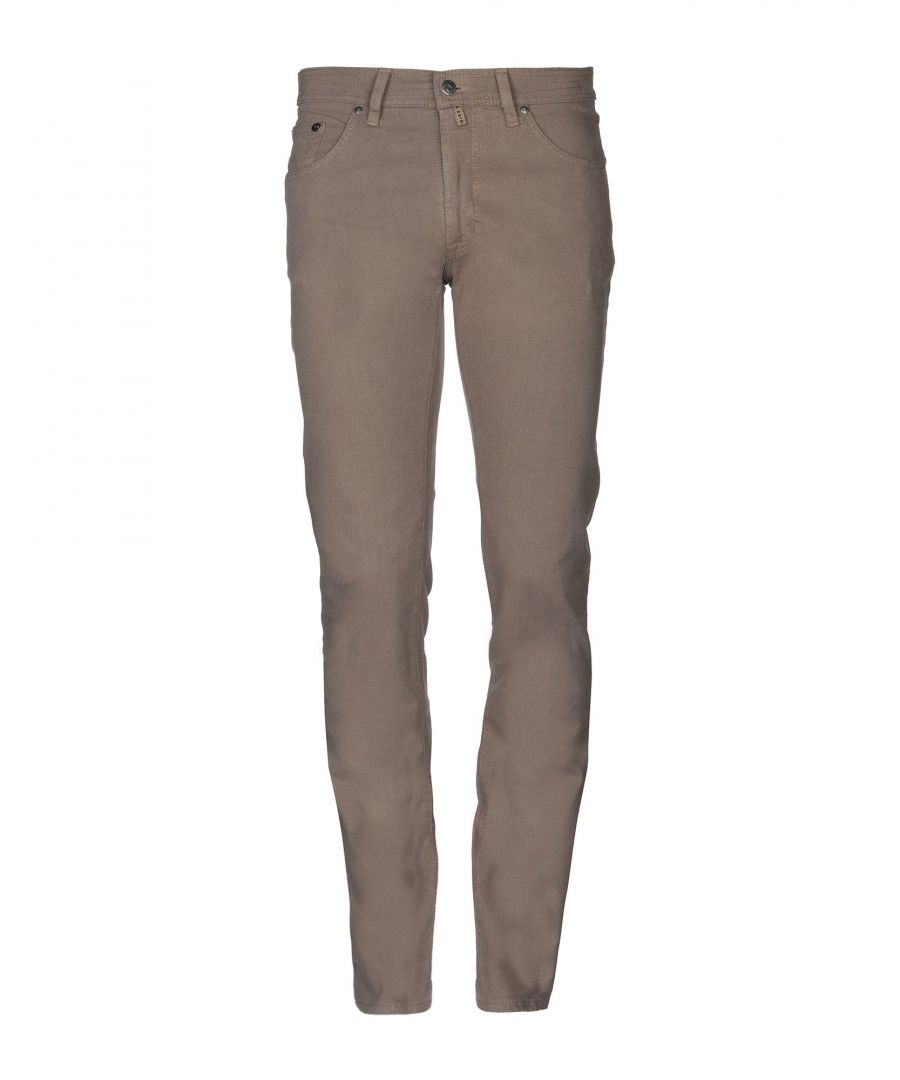 Image for Pierre Cardin Sand Cotton Tapered Leg Trousers