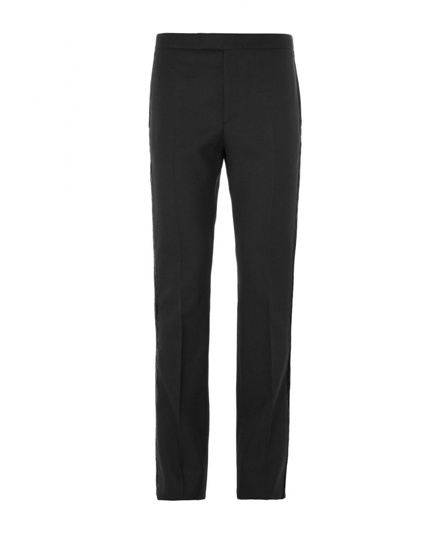 Image for Saint Laurent Black Wool Trousers
