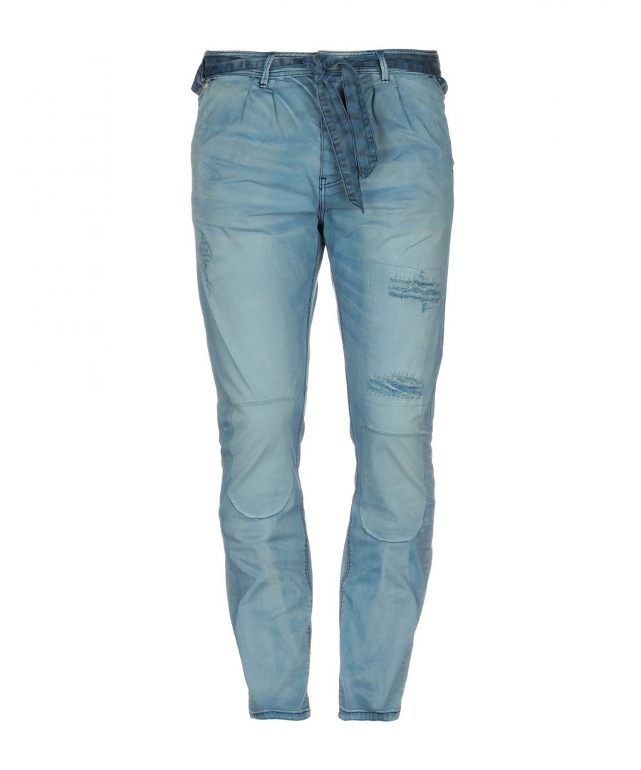 Image for Scotch & Soda Blue Cotton Tapered Leg Chino Trousers