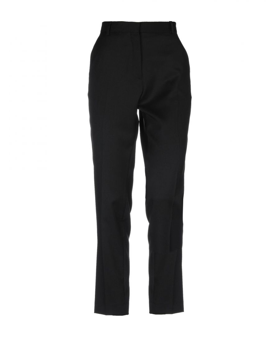 Image for Iro Black Virgin Wool Tapered Leg Tailored Trousers