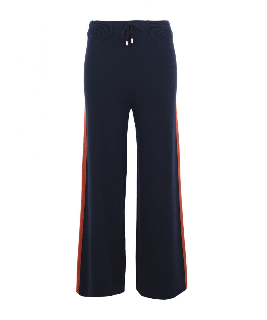 Image for Kash Dark Blue Cashmere Trousers