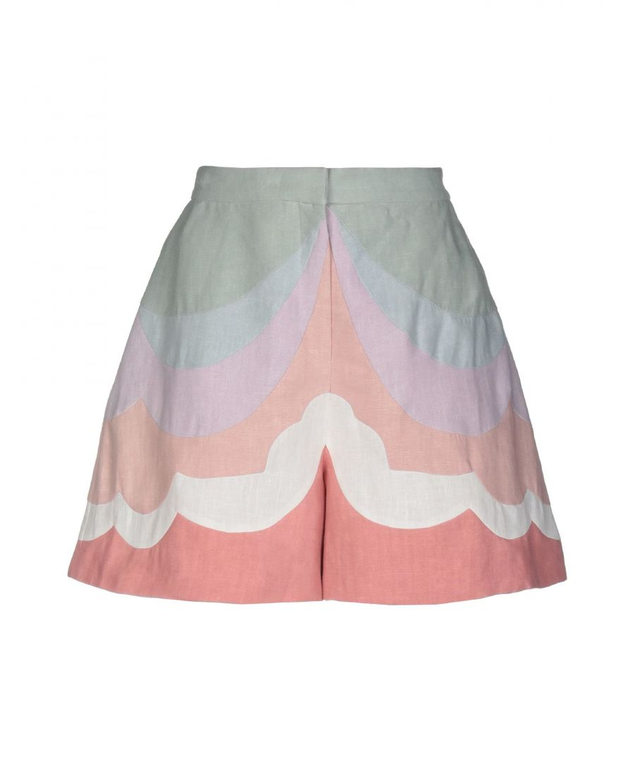 Image for Valentino Pink Linen Shorts