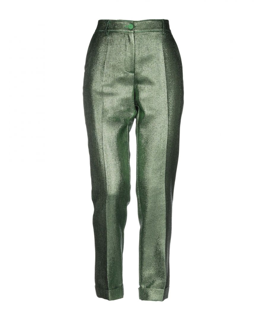 Image for P.A.R.O.S.H. Green Cotton Tapered Leg Trousers