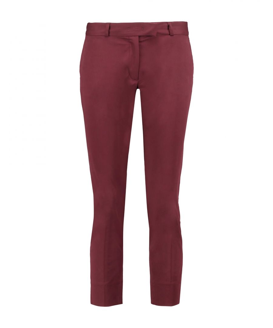 Image for Joseph Maroon Cotton Chino Trousers