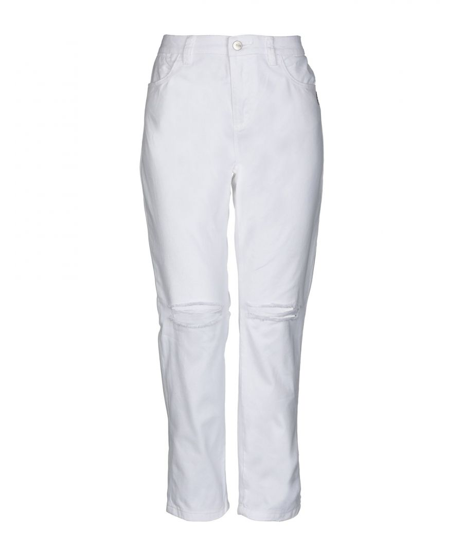 Image for DENIM Woman Maison Scotch White Cotton