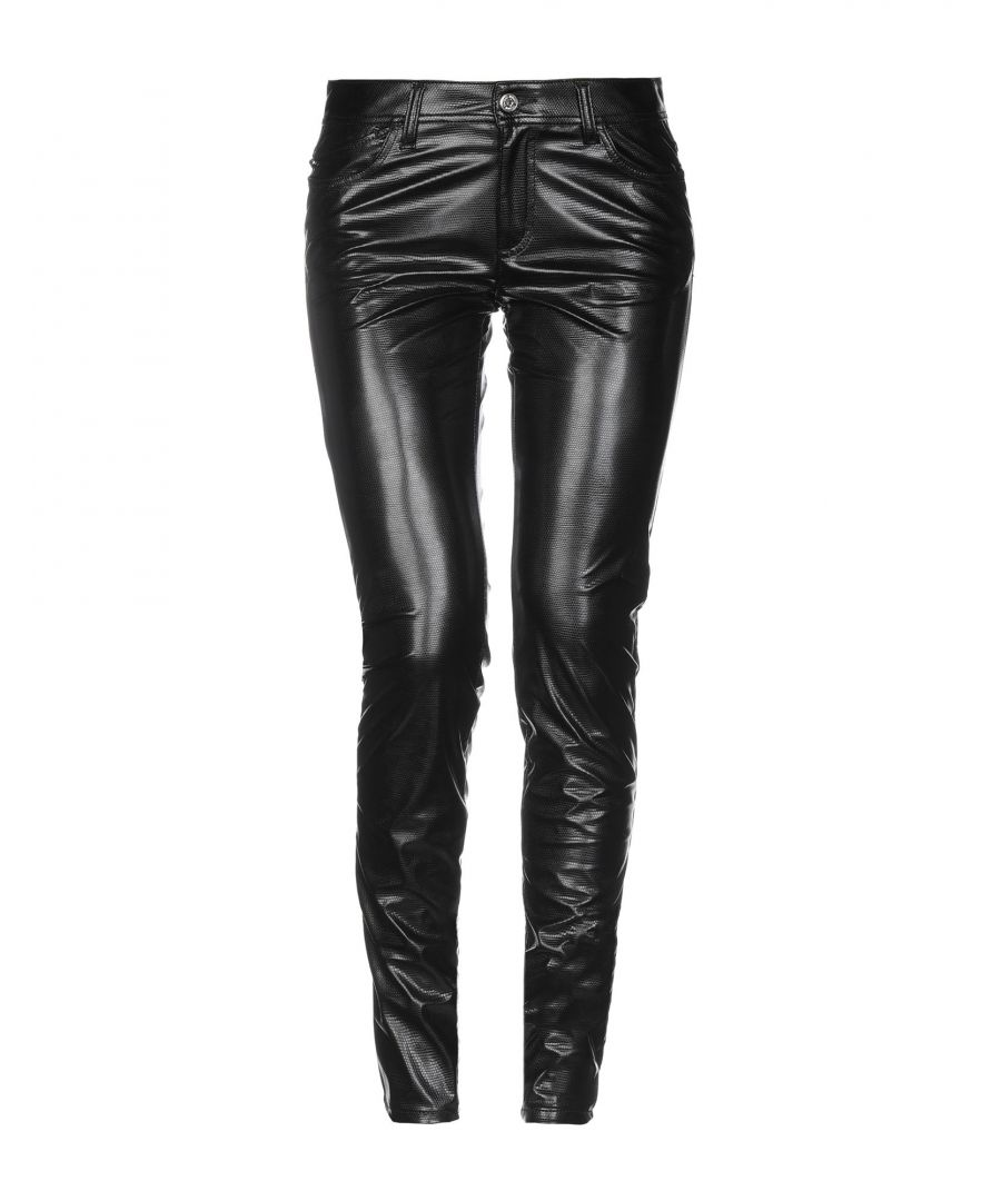 Image for Just Cavalli Black Faux Leather Trousers