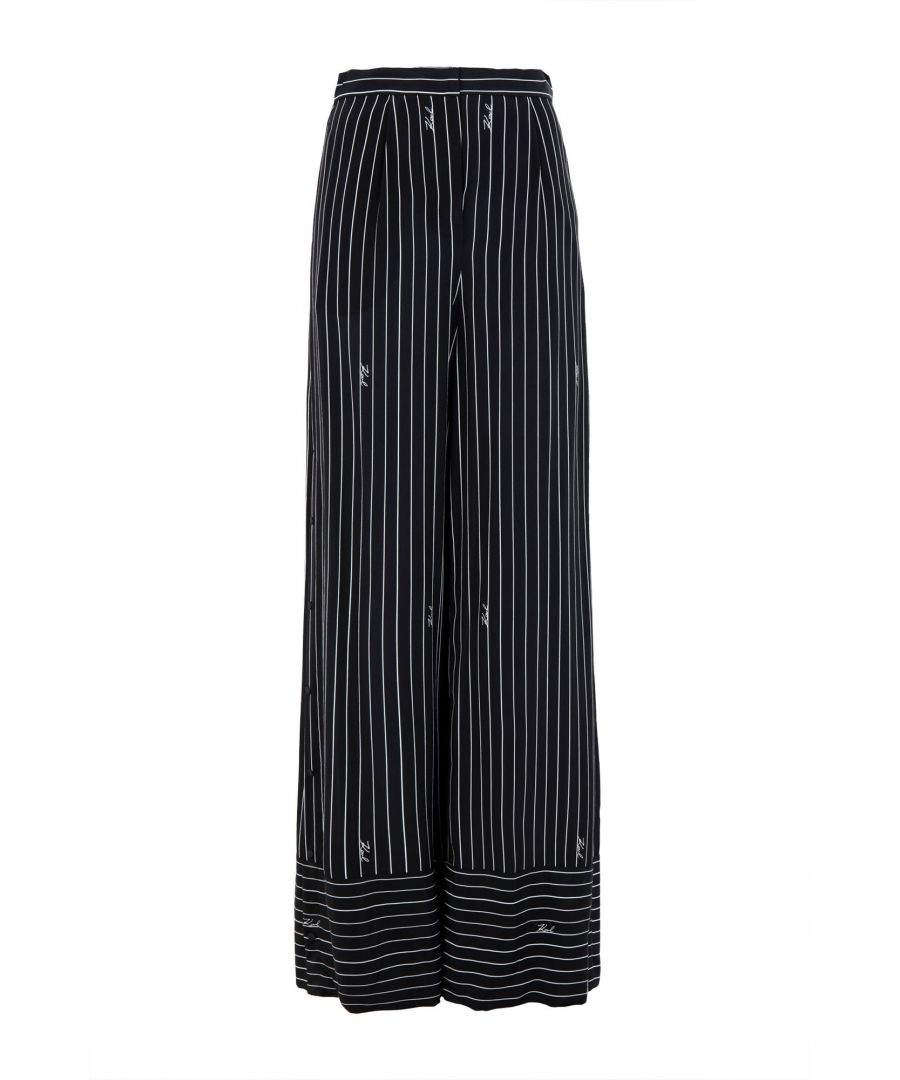 Image for TROUSERS Woman Karl Lagerfeld Black Silk