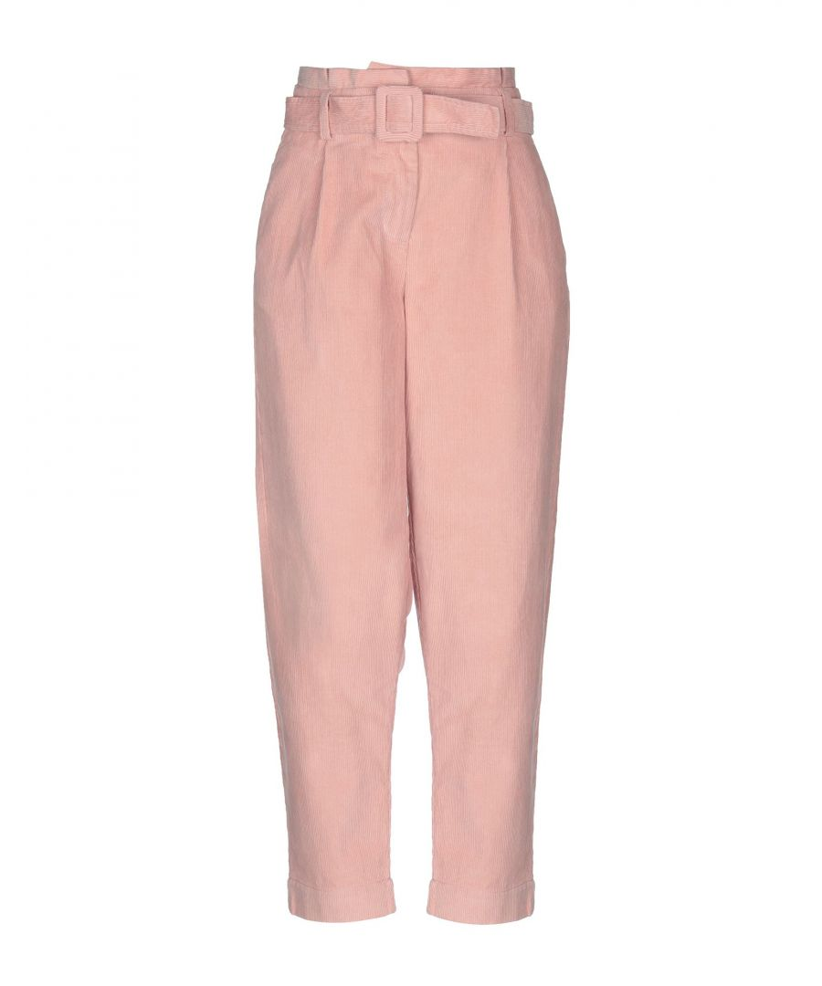 Image for Vero Moda Pink Cotton High Waisted Trousers