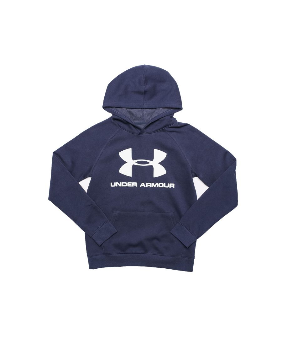 Image for Boy's Under Armour Junior UA Rival Logo Hoodie in Blue