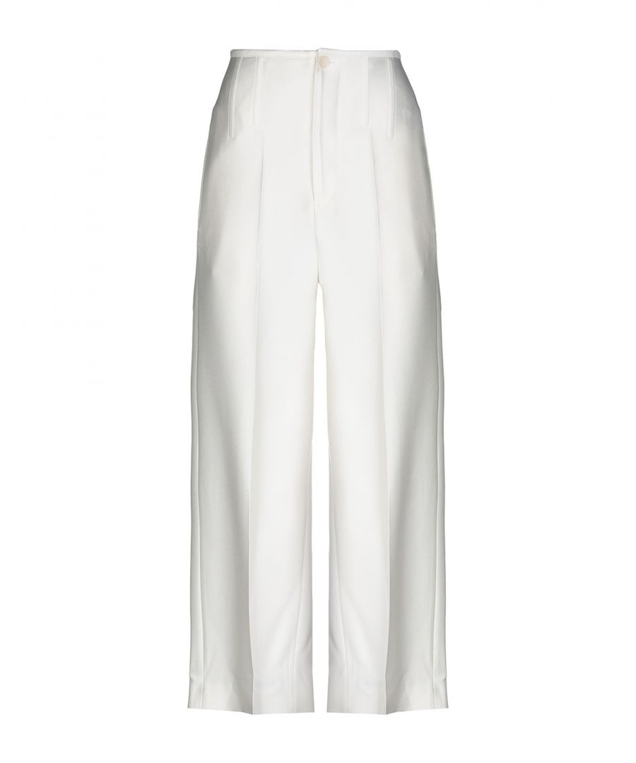 Image for Joseph White Tailored Wide Leg Trousers