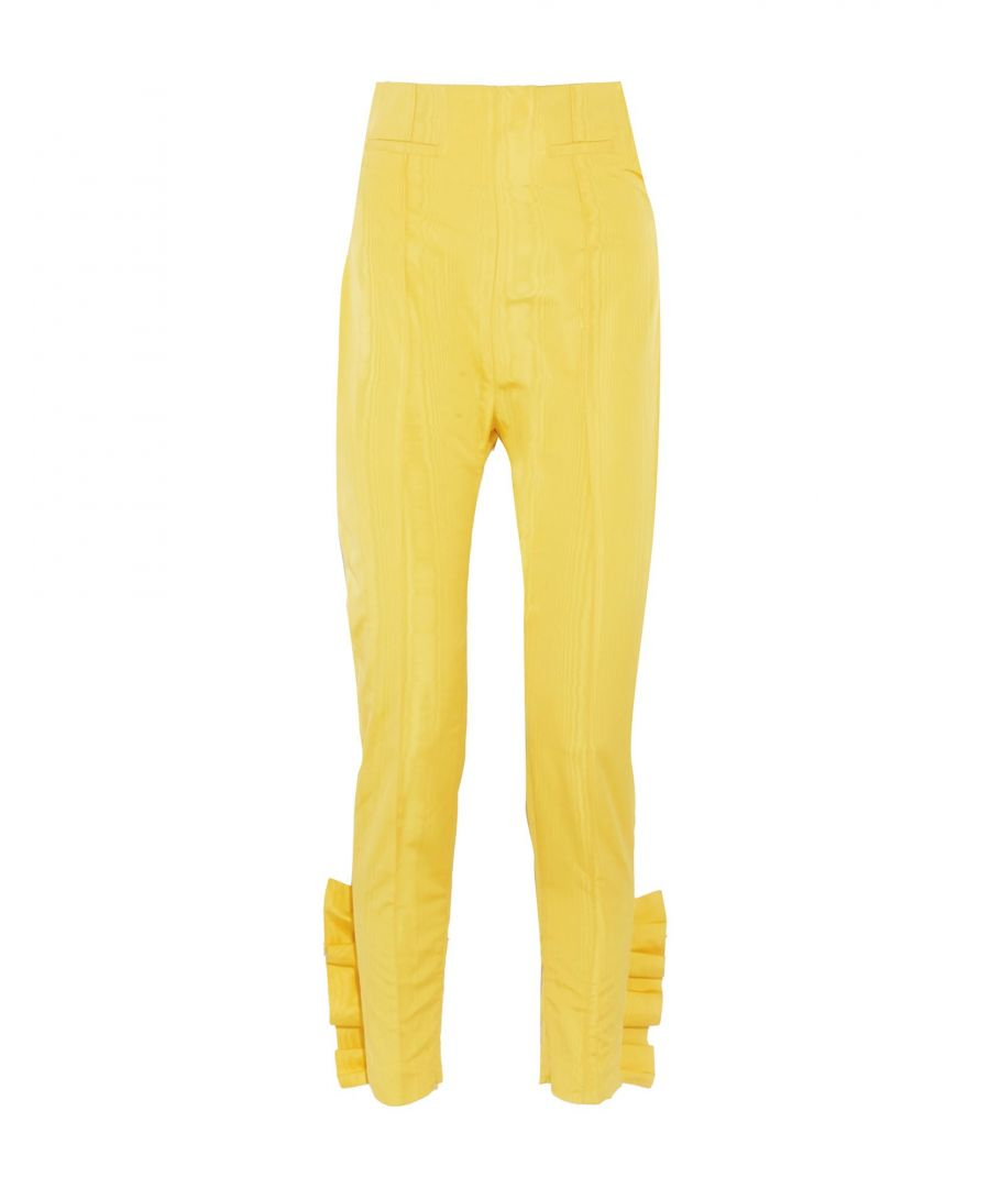 Image for Carmen March Yellow Silk Casual trousers