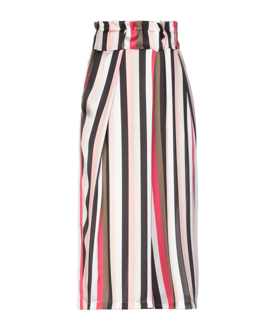 Image for Annarita N Twenty 4H Pink Stripe High Waisted Wide Leg Trousers