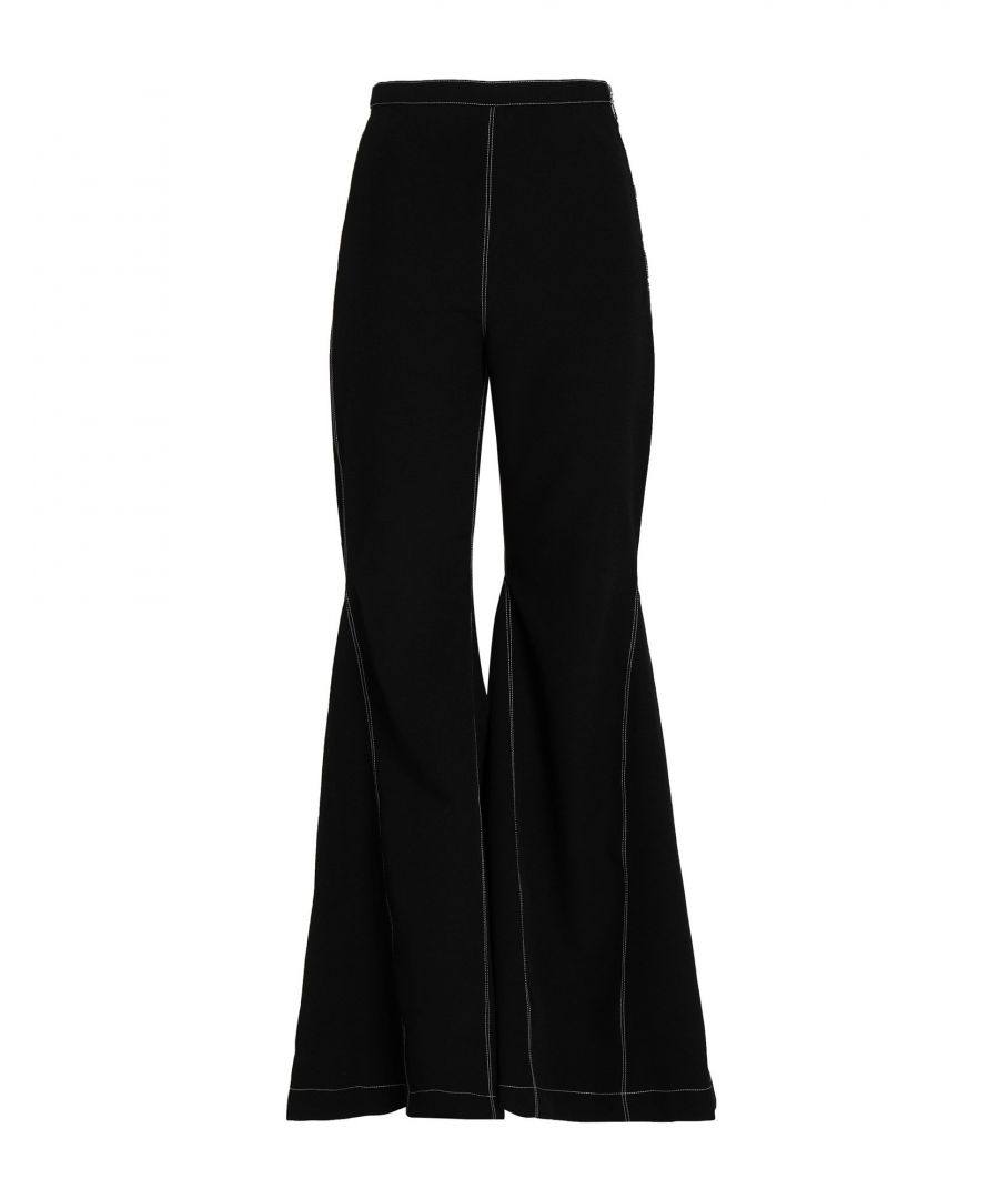 Image for Paper London Black High Waisted Flare Trousers
