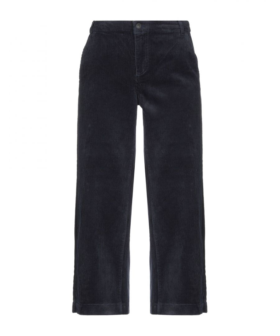 Image for Only Dark Blue Cotton Tapered Leg Trousers