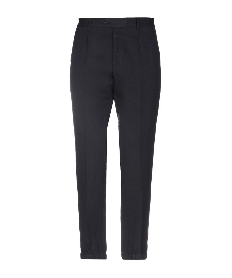 Image for Roberto Cavalli Dark Blue Cotton Trousers