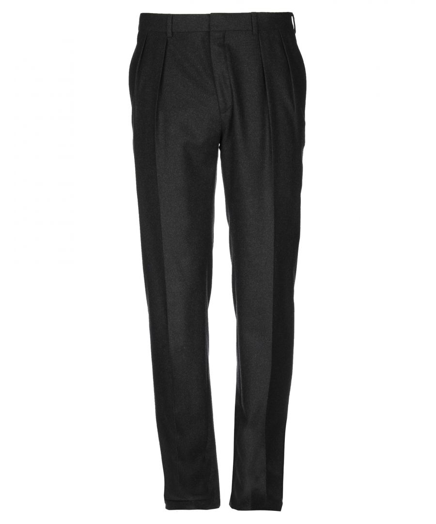 Image for Polo Ralph Lauren Steel Grey Virgin Wool Tapered Leg Tailored Trousers