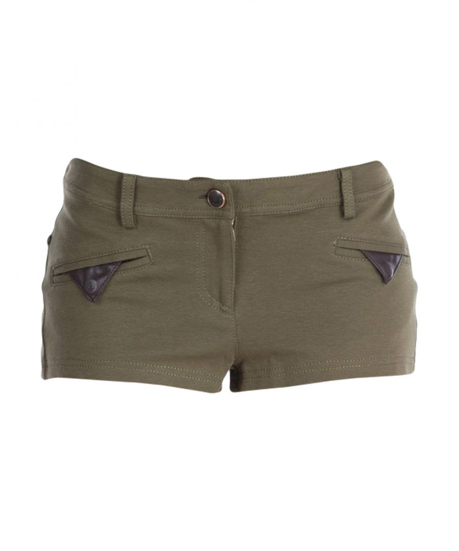 Image for Just Cavalli Military Green Cotton Shorts