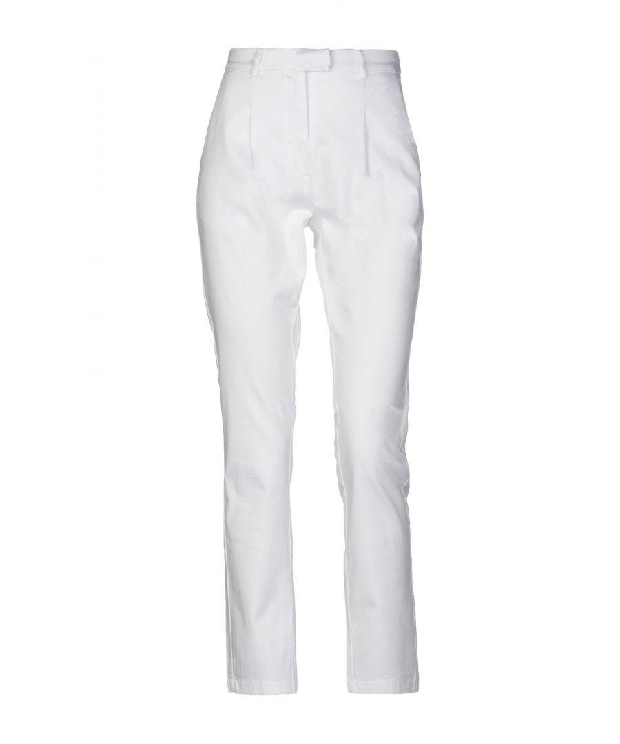 Image for TROUSERS Woman Alpha Studio White Cotton