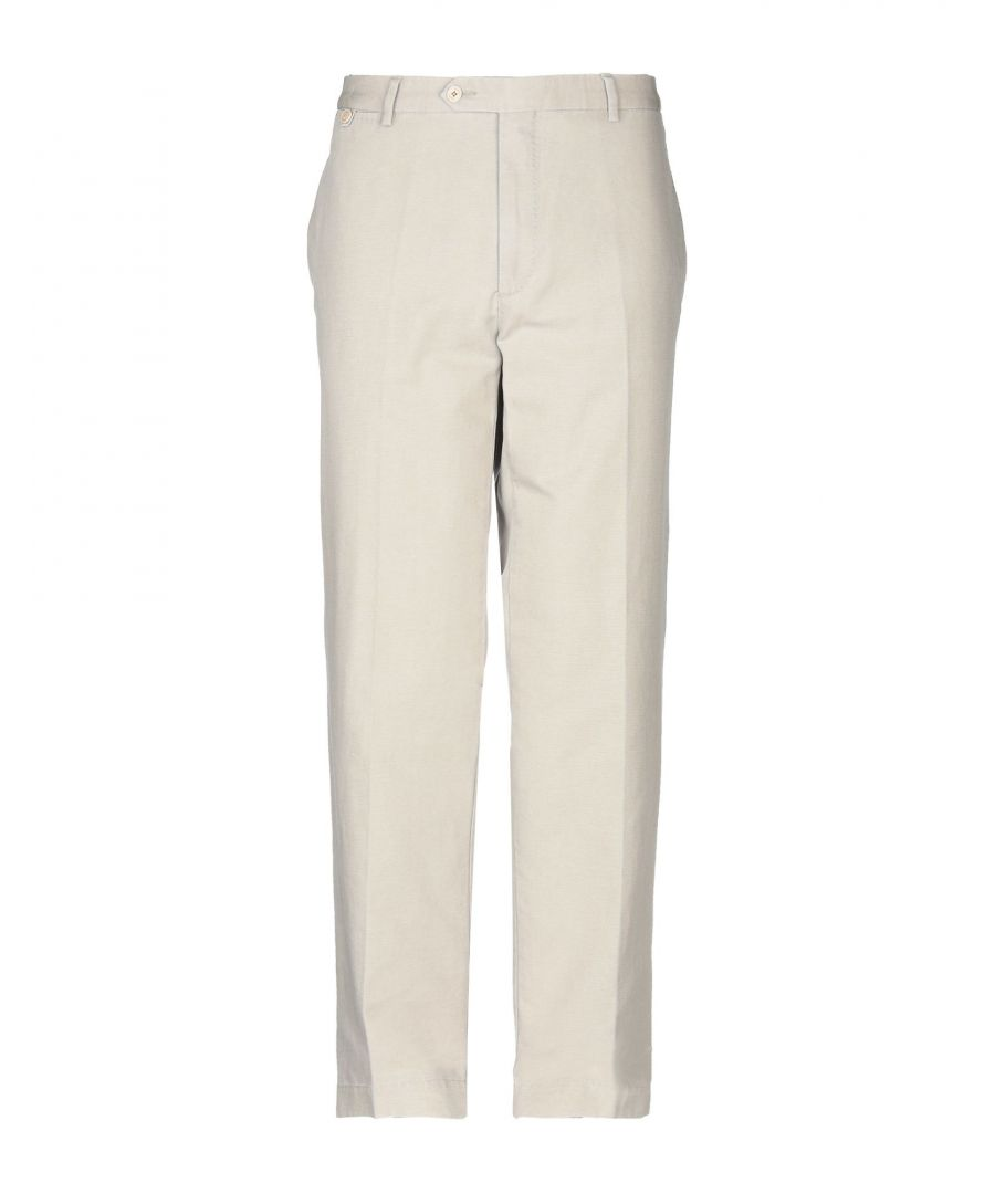 Image for Hackett Light Grey Cotton Chino Trousers