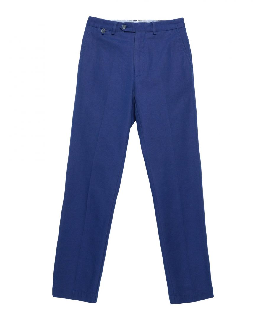 Image for Hackett London Blue Cotton Chino Trousers