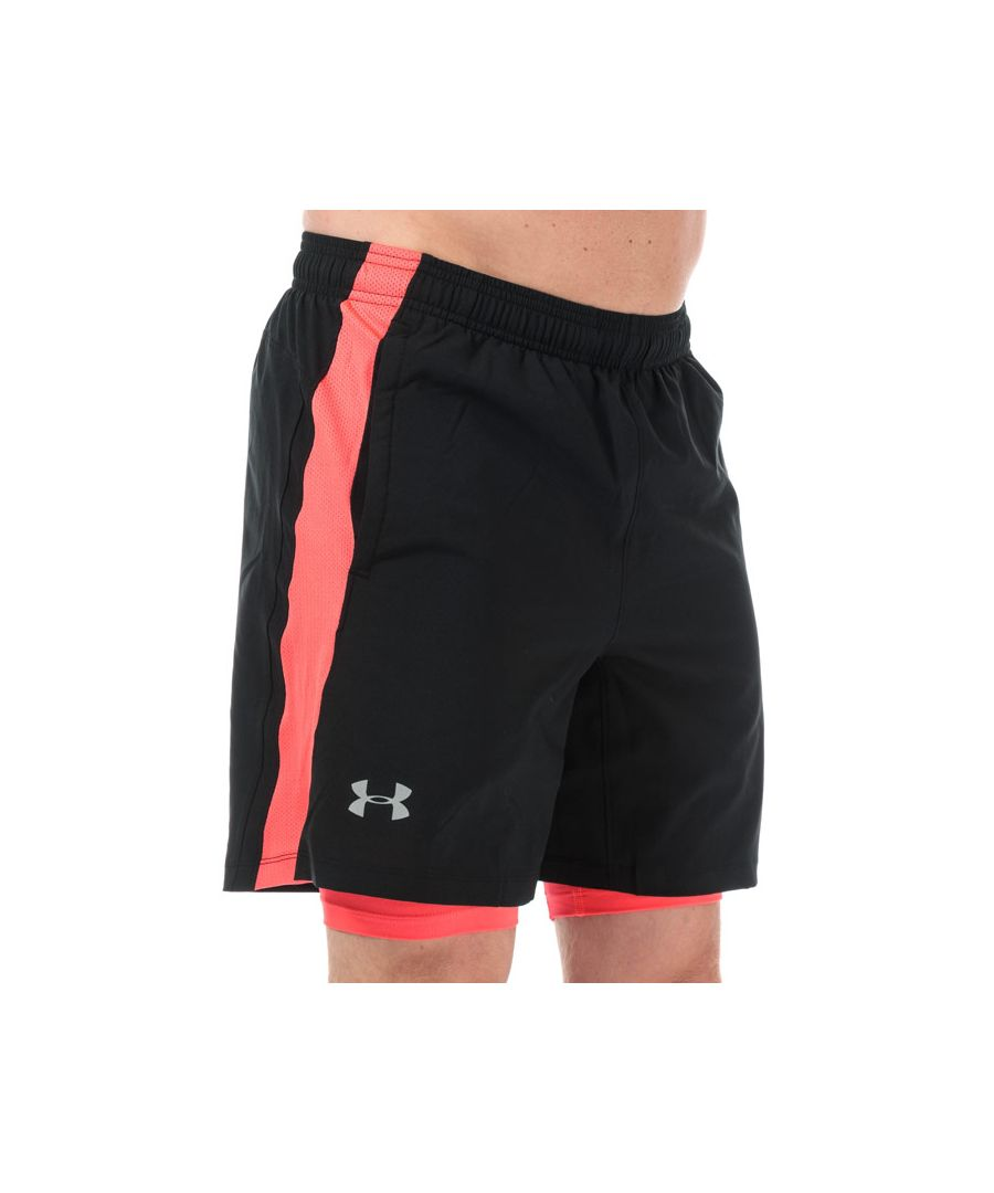 Image for Men's Under Armour Launce SW 2-In-1 Shorts in Black