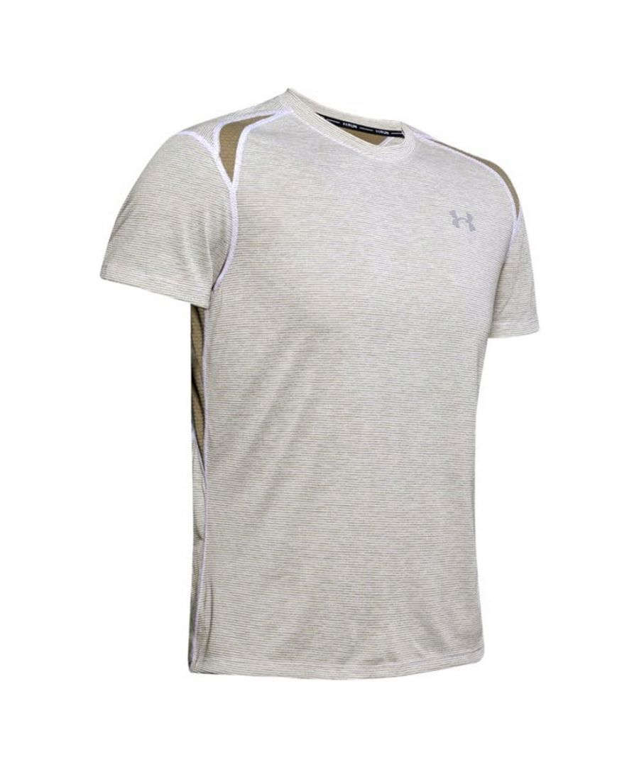Image for Under Armour Streaker 2.0 Mens Running Shirt White/Khaki