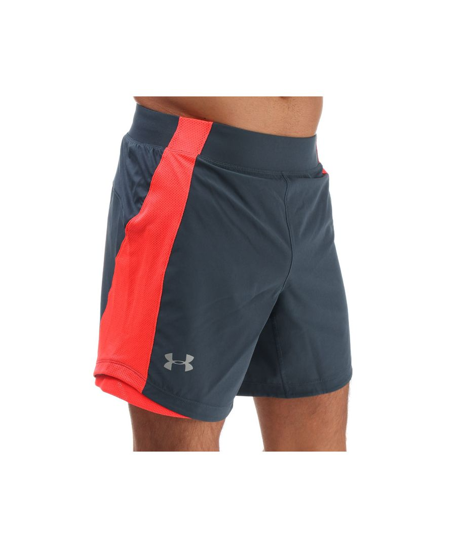 Image for Men's Under Armour Qualifier Speedpocket 7inch Shorts in Grey