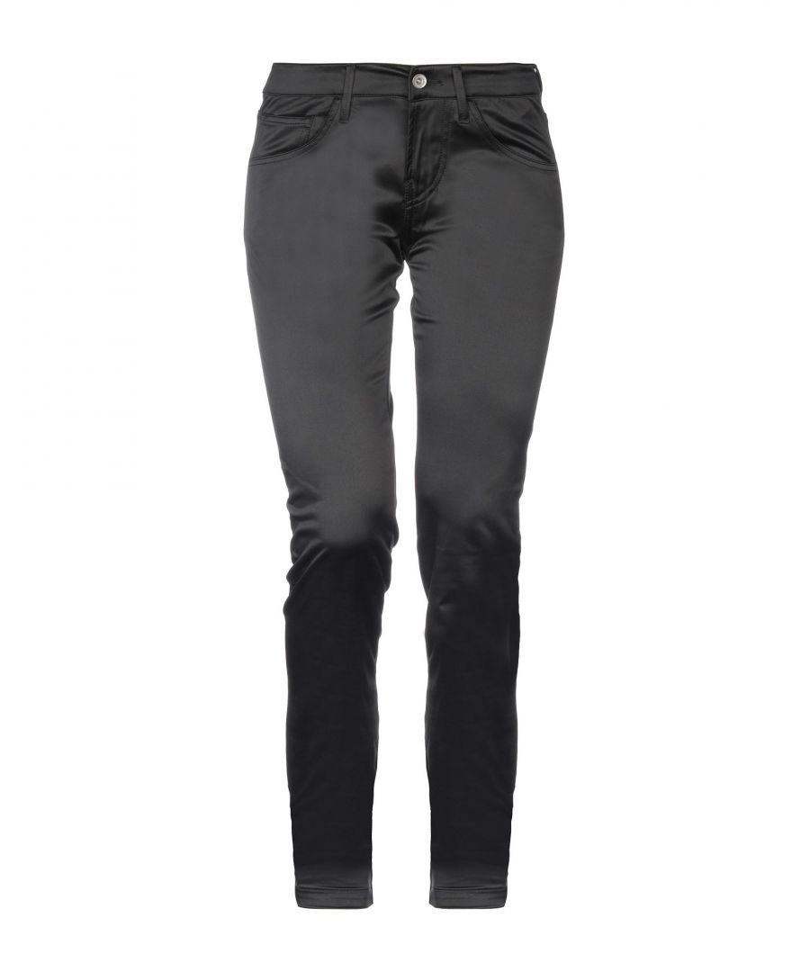Image for Fornarina Black Satin Tapered Leg Trousers