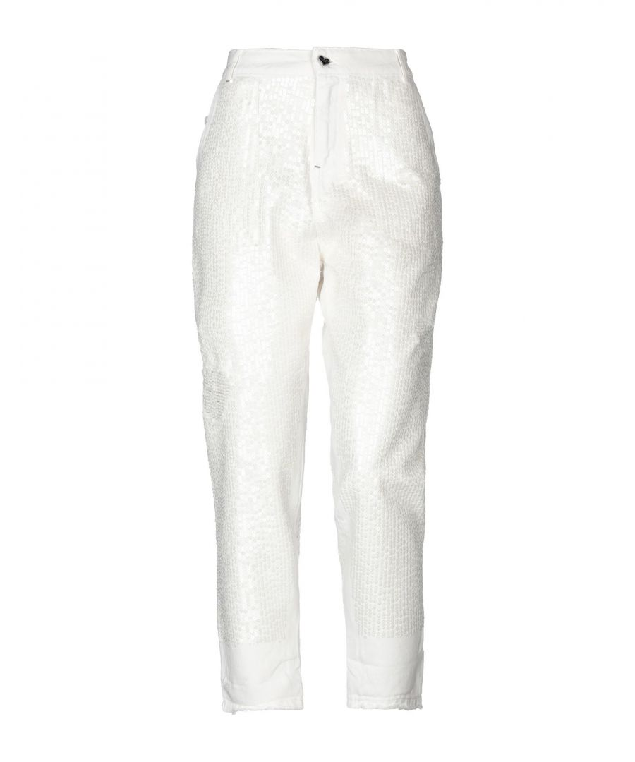 Image for DENIM Twinset Ivory Woman Cotton