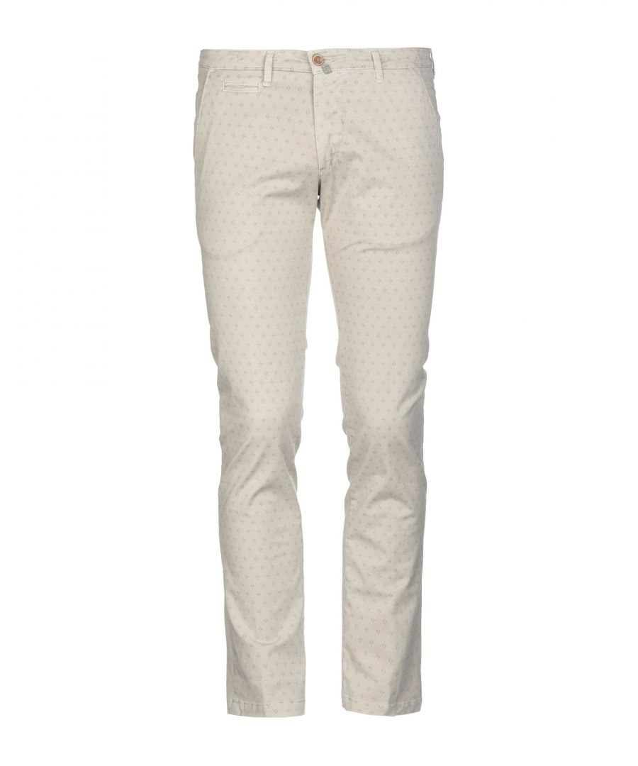 Image for Briglia 1949 Light Grey Cotton Tapered Leg Chino Trousers