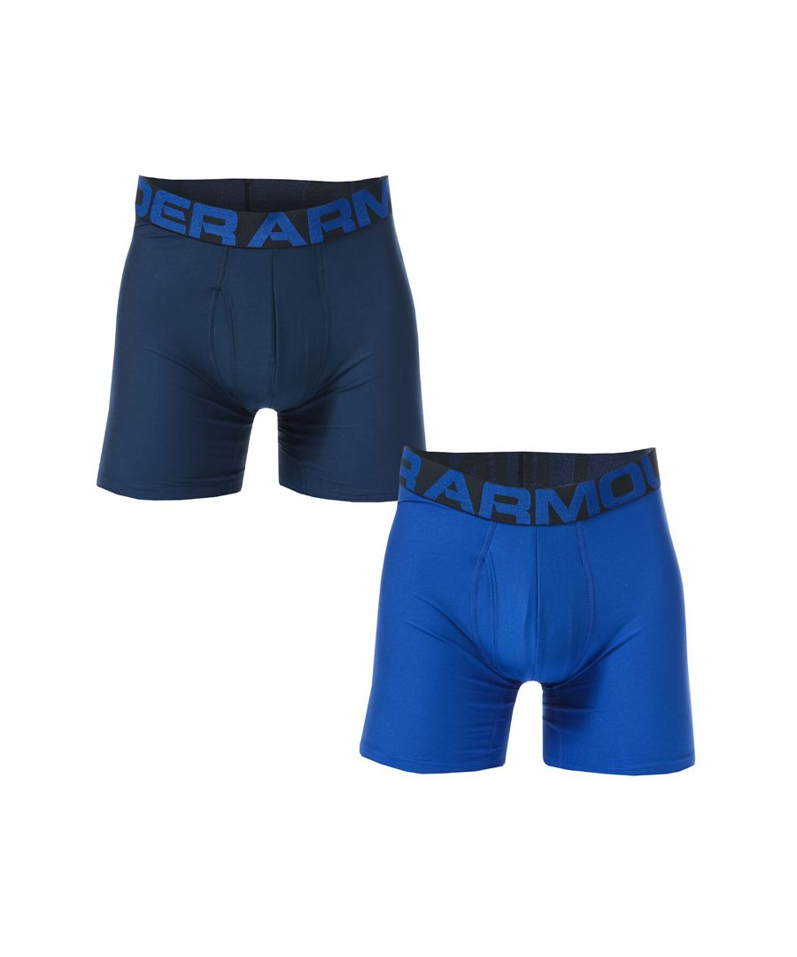 Image for Men's Under Armour Tech 6 Inch Boxerjock 2 Pack in Blue