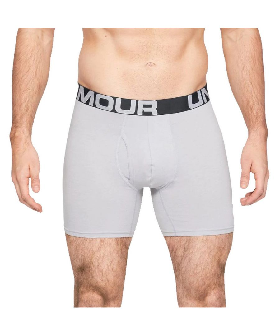 Image for Under Armour Mens Charged Cotton 6in 3 Pack Boxer Shorts