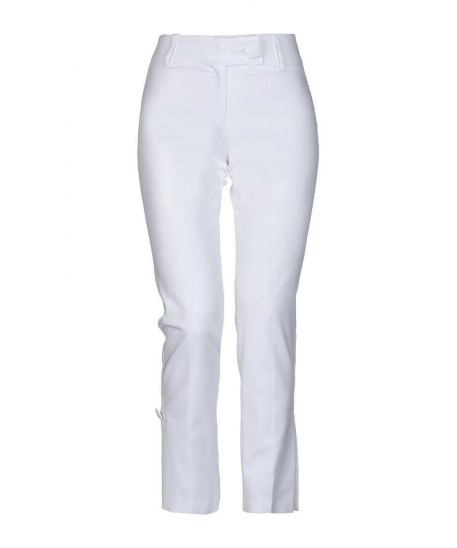 Image for Stretch By Paulie White Cotton Tapered Leg Trousers