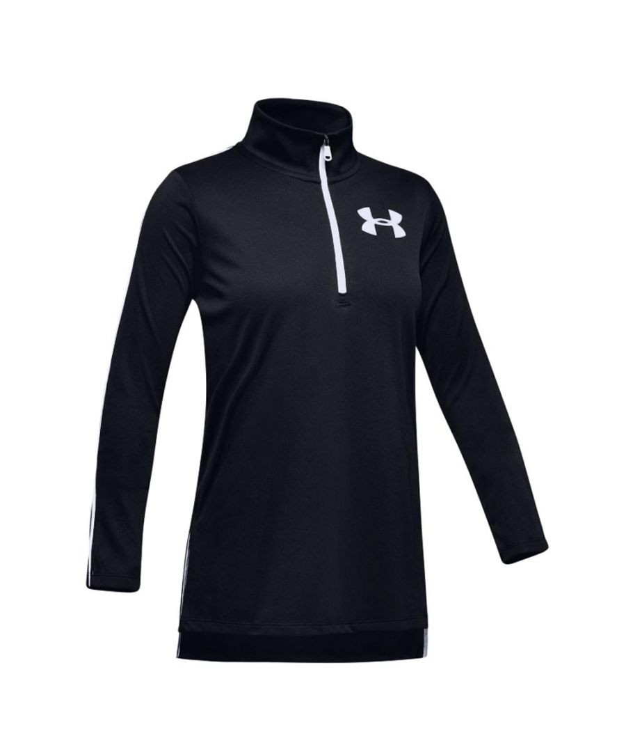 Image for Under Armour Tech Girls 1/2 Zip Shirt Black