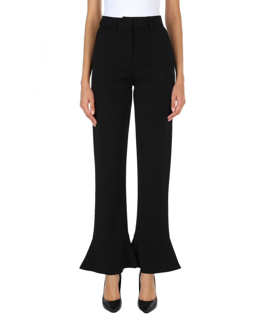 Image for French Connection Black Kick Flare Trousers