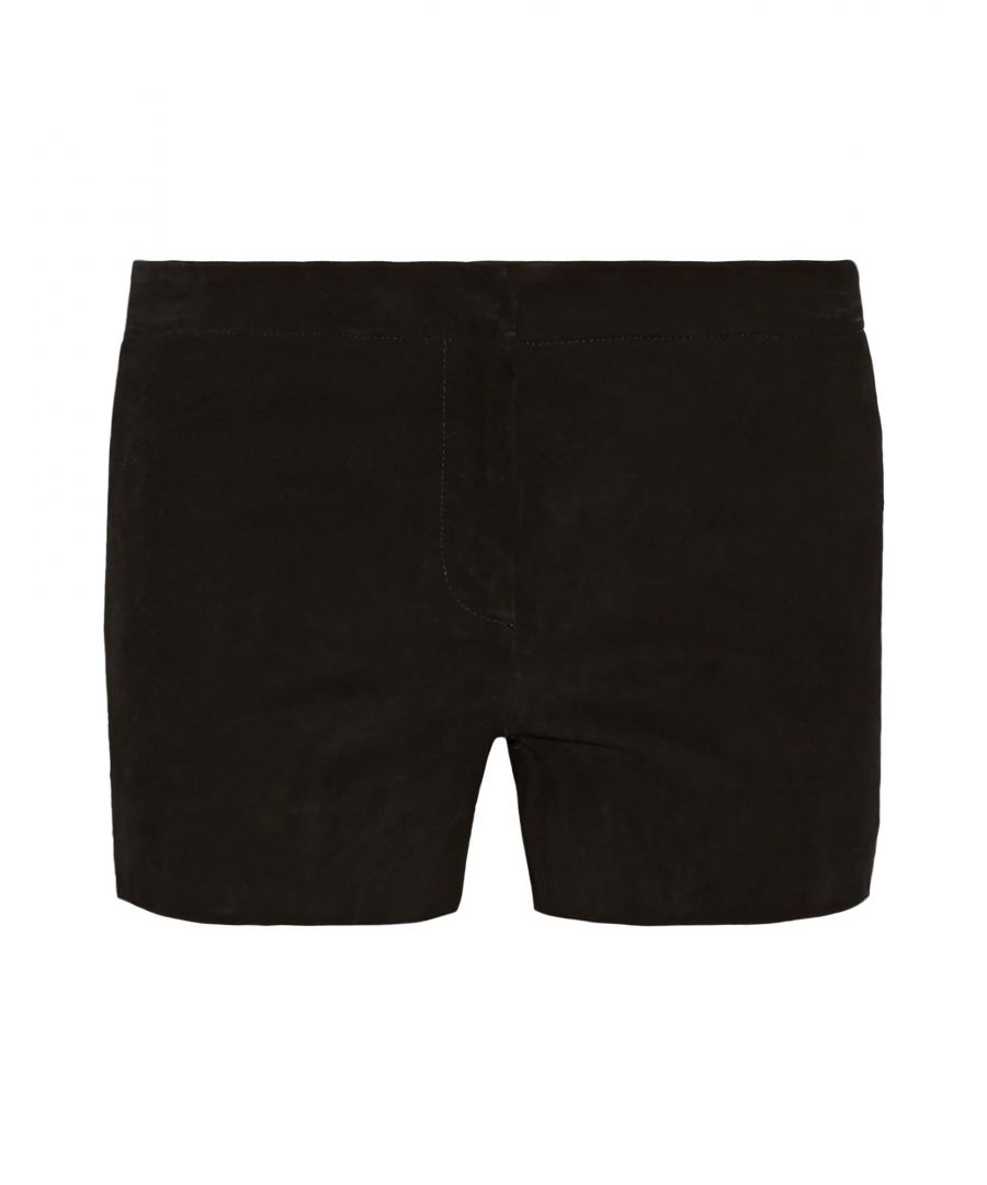 Image for Maje Black Leather Shorts