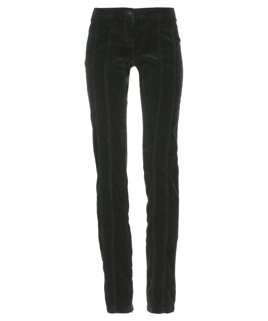 Image for Patrizia Pepe Dark Green Cotton Velvet Trousers